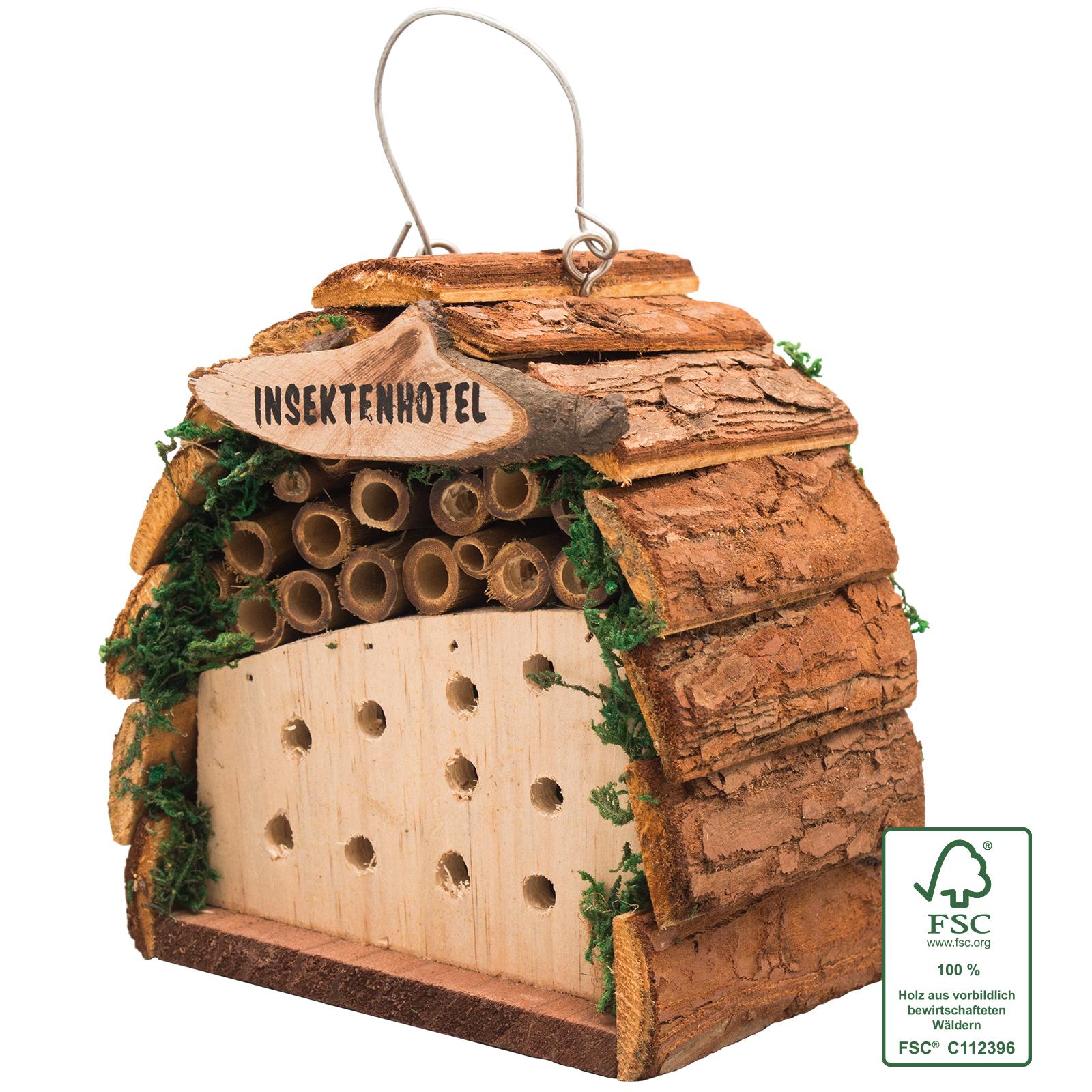 Insektenhotel Insektenhaus Bausatz für Kinder Bienenhotel Holz FSC-zertifiziert
