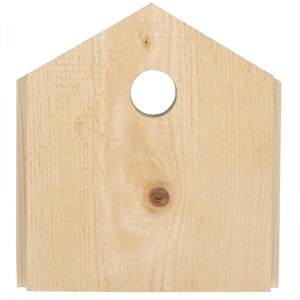Front-Blende für Meisen – die Blende aus sägerauen Holz und mit optimalem Einflugloch für kleine Meisenarten von Gardigo