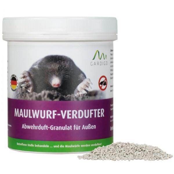 Maulwurf-Verdufter – das Abwehrduft-Granulat gegen Maulwürfe von Gardigo