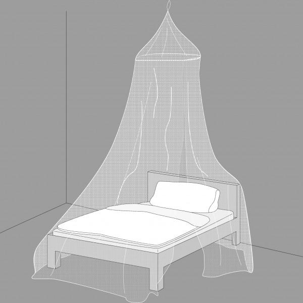 Mosquitonetz Kegelform für Doppelbetten – das Himmelbett als Schutz gegen Mücken von Gardigo