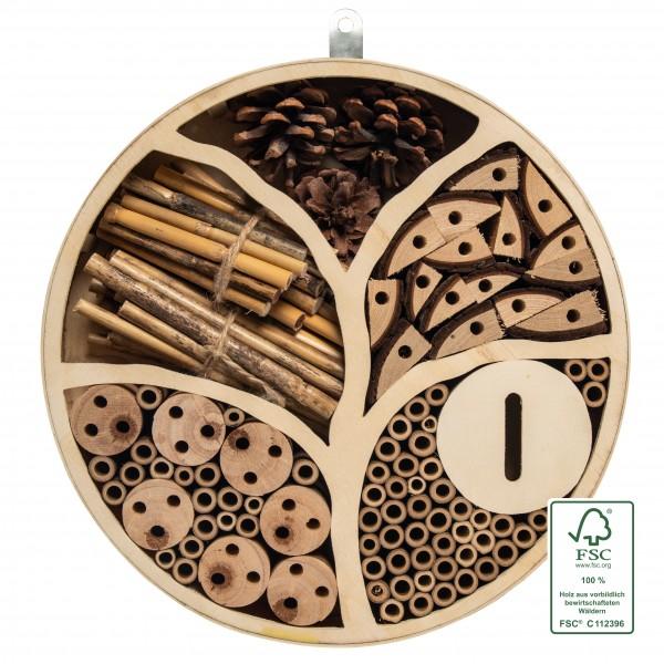 Insektenhotel Lebensbaum FSC – der mystische Lebensbaum aus FSC-zertifiziertem Holz für die Artenvielfalt von Gardigo