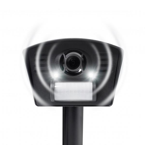 Hunde-Katzenschreck LED – der Hunde- und Katzenschreck mit Ultraschall und LED-Blitzlicht von Gardigo