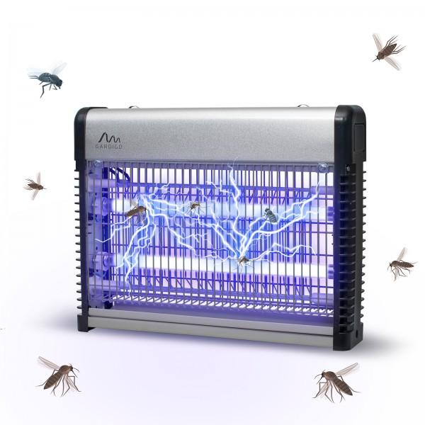 Fluginsekten-Vernichter Profi 70qm 2 x 8 W – der Insektenvernichter mit UVA-Röhren gegen Fliegen und Mücken von Gardigo
