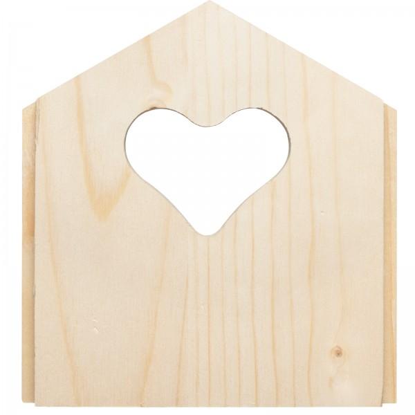 Front-Blende Herz-Form – die Blende mit origineller Herz-Form für Höhlen- und Nischenbrüter von Gardigo