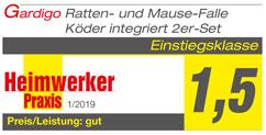 Heimwerker Praxis - 1/2019 - Mause-Falle 2er-Set (inkl. Köder)
