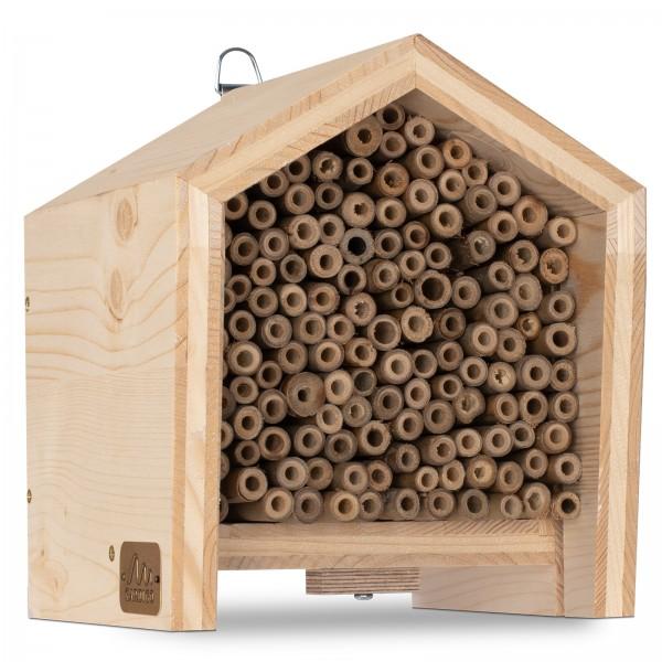 Tier-Haus für Bienen – die Nisthilfe für diverse Wildbienenarten von Gardigo
