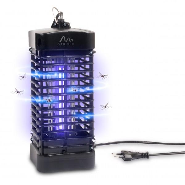 Fluginsektenvernichter 25qm mit UV-Licht – der Insektenvernichter mit verschiedenen Aufhängungen und praktischer Kabelführung von Gardigo