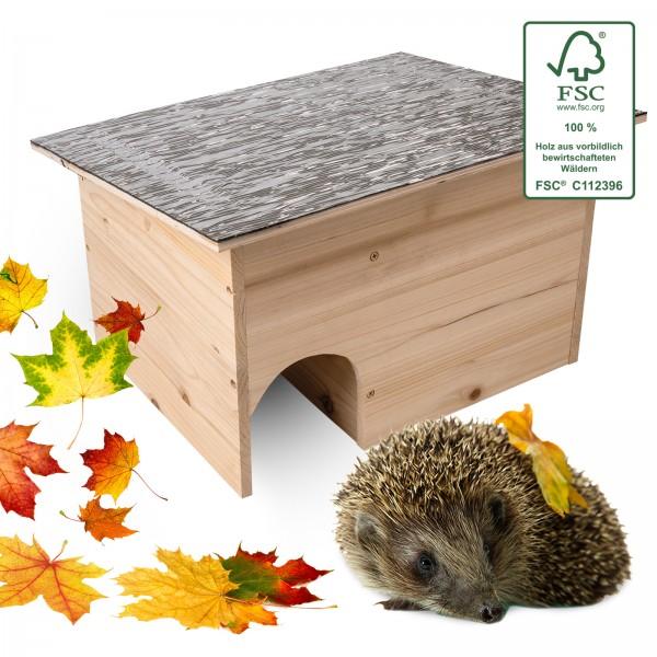 Igelhaus Bausatz DIY – das Igelhaus zum Zusammenbauen und aus FSC-zertifiziertem Holz von Gardigo