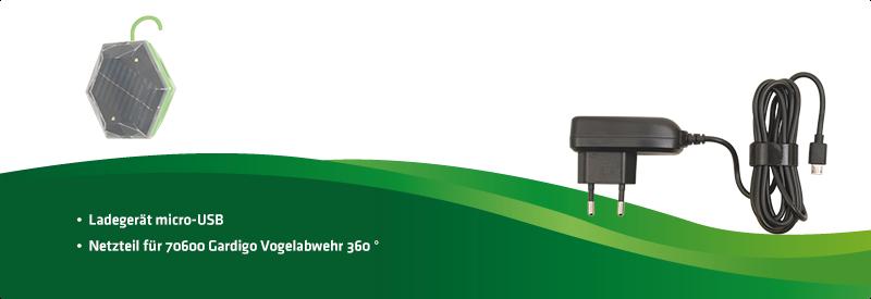 Netzteil für 70600 Gardigo Vogelabwehr 360 Grad