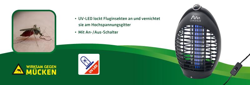 Fluginsekten-Vernichter 20 m² mit UV-LED