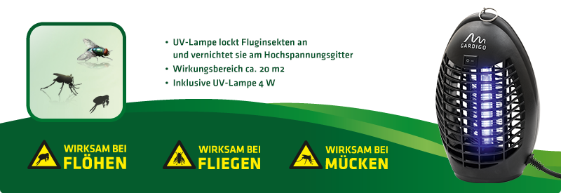 Fluginsekten-Vernichter 20 m² Isokat Midi mit UV-Licht