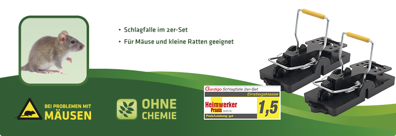 Mausefalle - Schlagfalle 2er Set