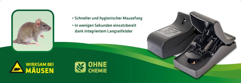 Mause-Falle 2er-Set (inkl. Köder)