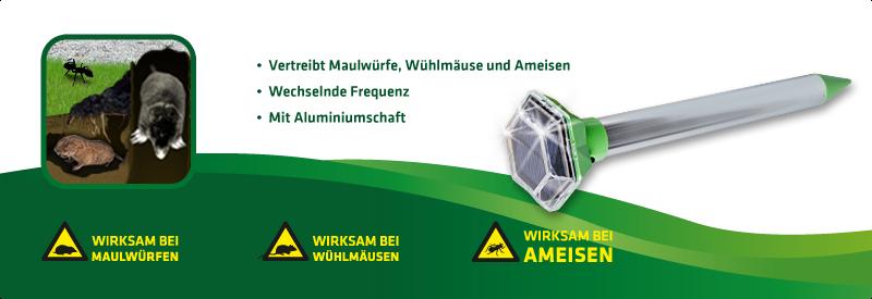 Maulwurf-Ameisen-Frei Solar Diamant Vibration