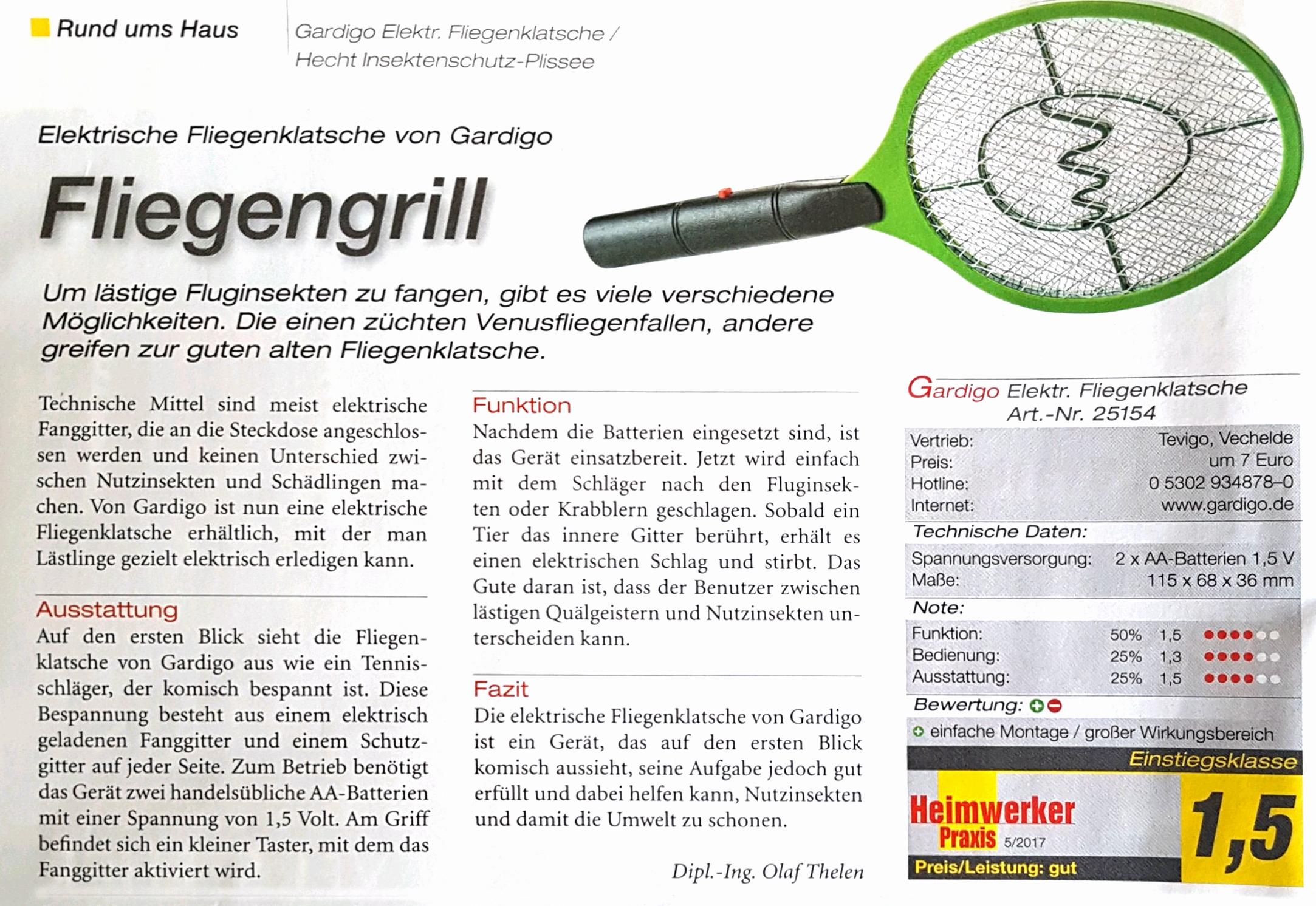 Elektrische Fliegenklatsche Bzzz | Gardigo